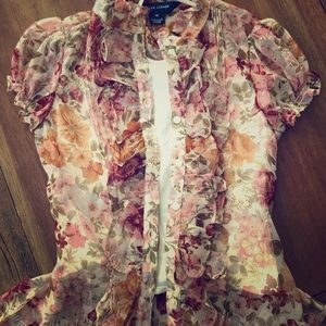 Ralph Lauren blouse, button down and with wrap